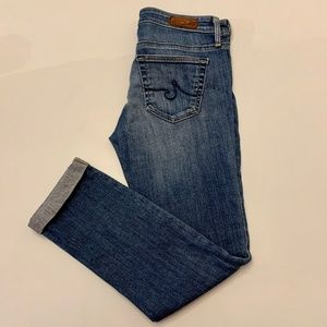 AG ADRIANO GOLDSCHMIED Stevie Roll-Up Jeans 25R